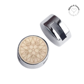Slider 12 mm Winter star flat matt Light taupe