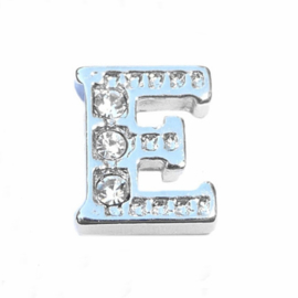 Floating Locket Charm letter E