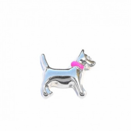 "Floating Locket Charm ""Hond"""