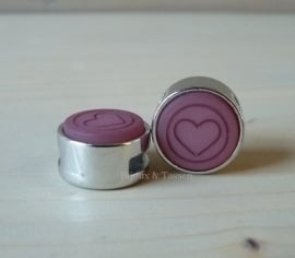 Slider 12 mm hart flat matt Antique pink