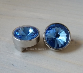 Love Crystal slider 14 mm Montana blue