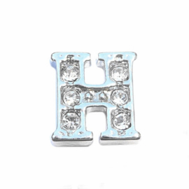 Floating Locket Charm letter H
