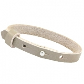 Cuoio armband leer 8 mm Sage grey