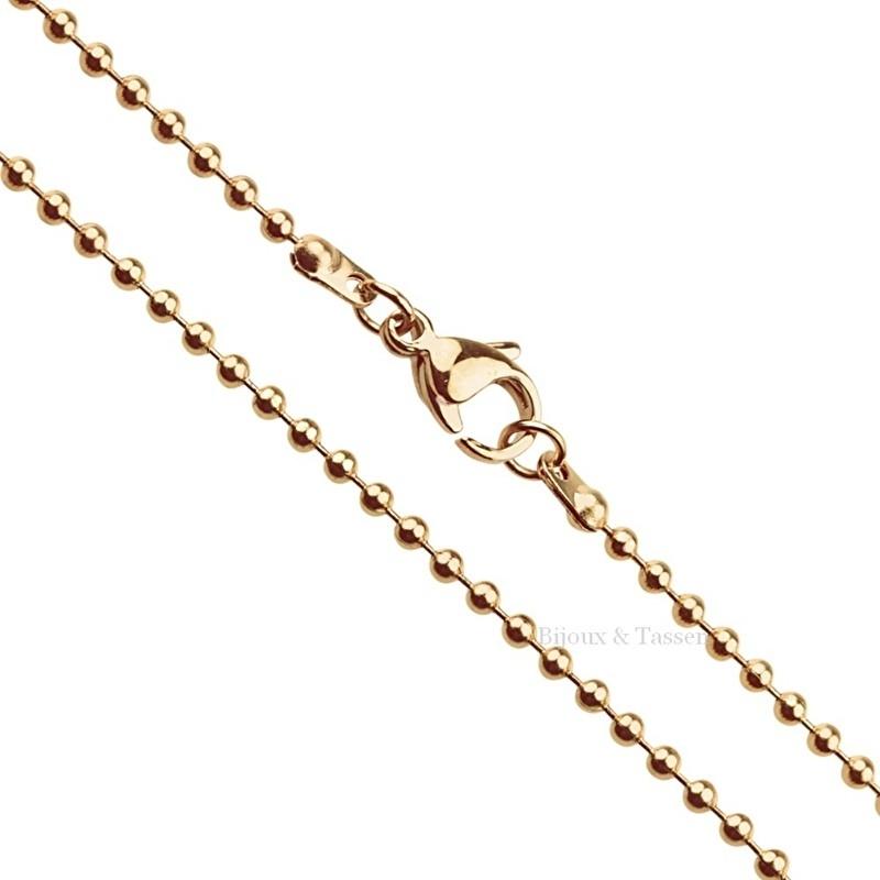 RVS Ball Chain ketting rose goud