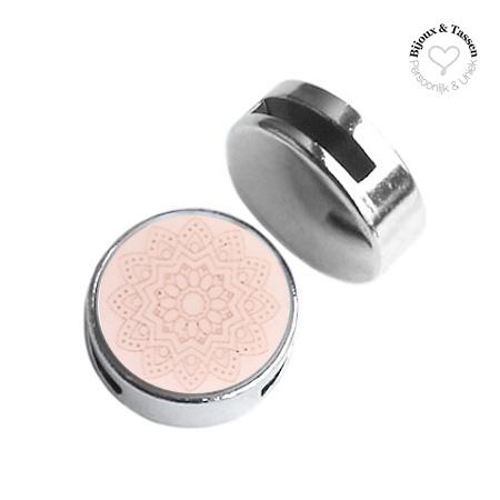 Slider 20mm Mandala matt Powder pink