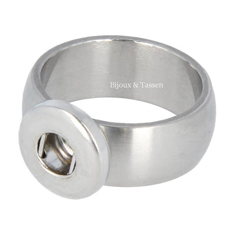 Mini Click ring RVS maat 17