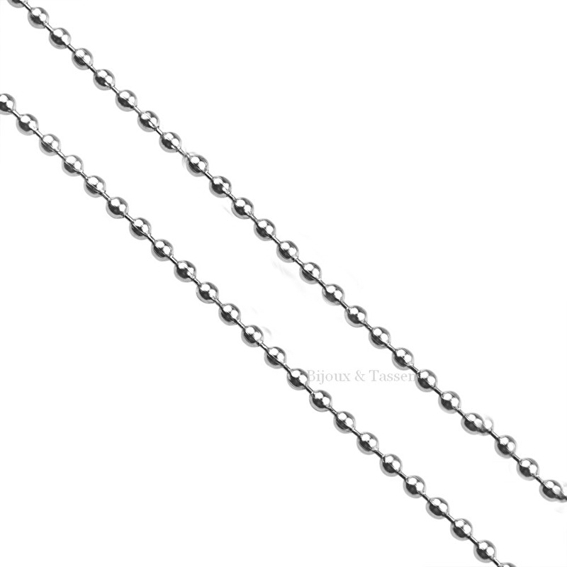 RVS Ball Chain ketting
