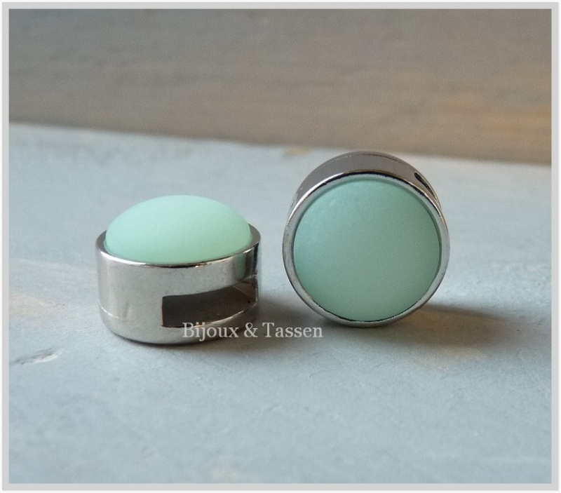 Slider 12 mm Pastel light turquase