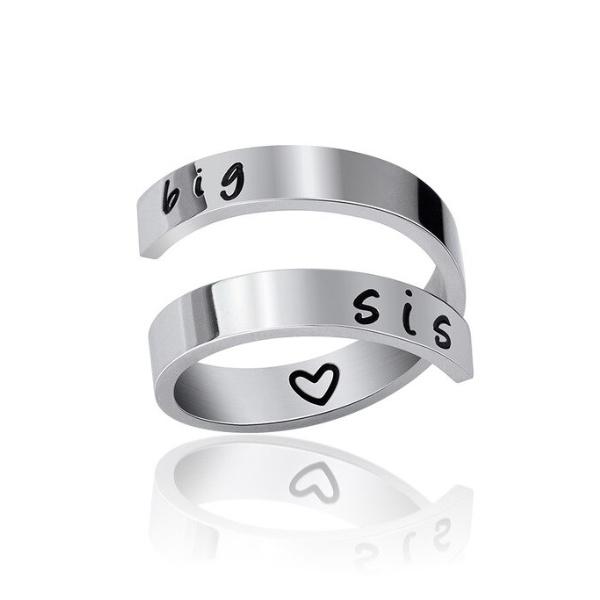 "Stainless steel ring ""Big Sis"""