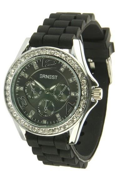 """Ernest horloge """"Stones""""  Zwart"""