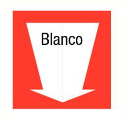 Blanco pijl 300x300 mm kunststof PP