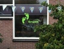 Geboortesticker voor op het raam (bryan)