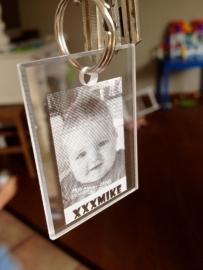 Plexiglas sleutelhanger met foto