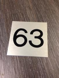 Huisnummer aluminium RVS look
