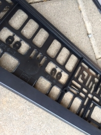 Kentekenplaat kunststof zwart