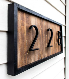 Zwarte huisnummers 12.5 cm hoog