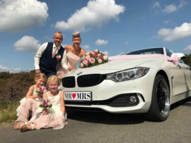 Mr & Mrs trouw kentekenplaat