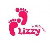 Geboortesticker voor op het raam (lizzy)