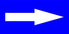 vloersticker looproute pijlen