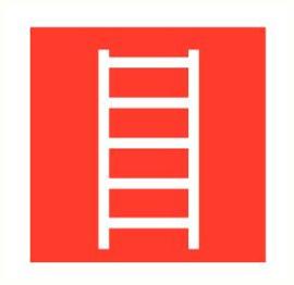 Ladder 200x200 mm kunststof PVC
