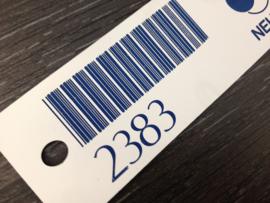 Typeplaat PVC met barcode