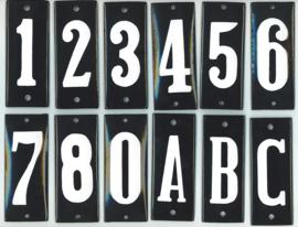 Huisnummers emaille 4x10 cm