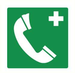 Telefoon 250x250 mm kunststof PP