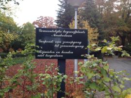 Bord begraafplaats Ninaberlaan