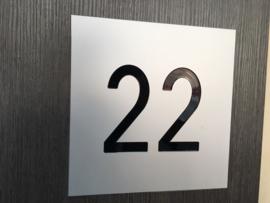 Huisnummer aluminium blank mat