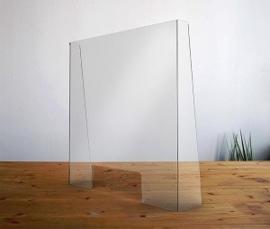 plexiglas scherm tbv balie 60x60cm
