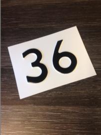 geperst huisnummer 2 cijfers
