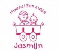 Geboortesticker voor op het raam (jasmijn)