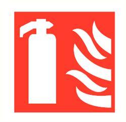 Brandblusser / vlam 300x300 mm kunststof PP