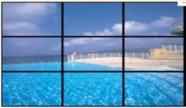 """LCD/LED wall 3x3 stuks 46"""" schermen incl. frame (prijs voor 3 dagen)"""