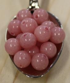 Jade kraal - Zacht roze - 6mm