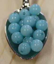 Jade perle - Bleached Aqua Blau - 6mm