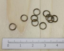 1107 - Buigringen Brons 6mm 10 stuks