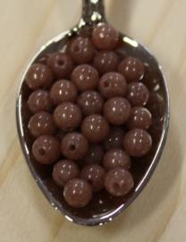 Jade perle - Smokey Braun - 4mm