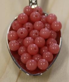 Jade kraal - Roze - 4mm