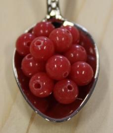 Jade kraal - Rouge rood - 6mm