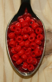 Seed bead - 6/0 - opaque red