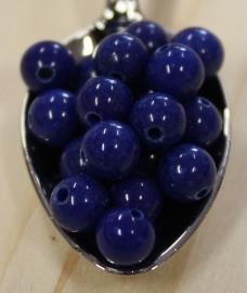 Jade perle - Dunkel Blau - 6mm
