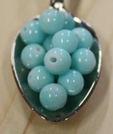 Jade perle - Azurblau - 6mm