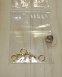 1104 - Buigringen Goud 6mm 10 stuks