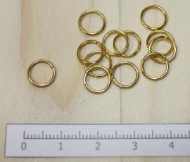 1105 - Buigringen Goud 8mm 10 stuks