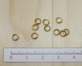 1103 - Buigringen Goud 4mm 10 stuks