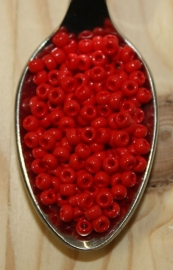 Seed bead - 8/0 - opaque red