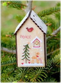 Christmas birdhouse peace - 164