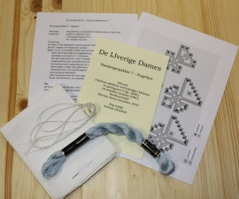 Hardangerpakket 7 - engeltjes - blauw