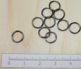 1111 - Buigringen Zwart 8mm 10 stuks